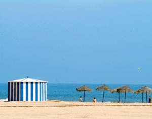panorámica de la playa de la Patacona